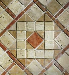 Ambienti in mosaico pavimenti armani arredocasa stufe caminetti cucine a legna e pellets - Mosaico per cucine ...
